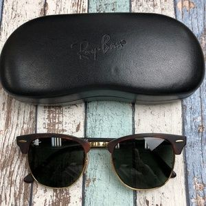 Italy! Ray-Ban Clubmaster RB3025 Sunglasses/TII444